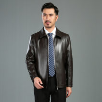 leather clothing Oana  Youth fashion Black, brown 170,175,180,185,190,195 have more cash than can be accounted for Imitation leather clothes Lapel zipper leisure time middle age Color matching