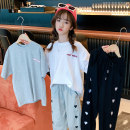 T-shirt White Hanfan smiley face print T, gray Hanfan smiley face print t Rabbit treasure warm 120cm,130cm,140cm,150cm,160cm,170cm female summer Short sleeve Crew neck Korean version There are models in the real shooting nothing cotton smiling face Cotton 100% SY0228 Class B Quick drying Huzhou City