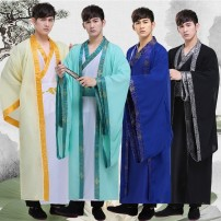 National Costume Seventeen square M S L XL XXL XXXL Hanfu Cotton 50% polyester 50% dance youth Solid color No process Belt decoration Spring of 2018 Chiffon Pure e-commerce (online only)