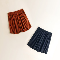 Pajamas / housewear Other / other Black, rust red M,L,XL female Three minutes of pants Thin money Leisure home Simplicity Solid color summer rubber string middle-waisted silk 21% (inclusive) - 40% (inclusive) silk