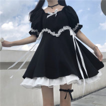 Lace / Chiffon Summer 2020 skirt S M Short sleeve Versatile Socket singleton  easy Regular 18-24 years old Amy it girl D733 Other 100% Pure e-commerce (online only)