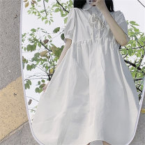 Dress Spring 2021 White dress Average size Middle-skirt 18-24 years old Amy it girl W690 More than 95% other Other 100% Pure e-commerce (online only)