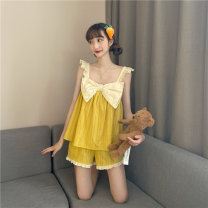 jacket Summer 2020 Average size Green nightdress yellow nightdress green pajamas suit yellow pajamas suit D020 Amy it girl 18-25 years old Other 100% Pure e-commerce (online only)
