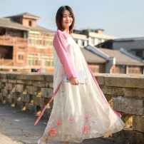 Dress Summer 2021 Picture color M, L Mid length dress singleton  Long sleeves commute stand collar High waist Solid color Socket A-line skirt routine 30-34 years old Type A Chaos in the south of the Yangtze River ethnic style T0149 91% (inclusive) - 95% (inclusive) other cotton