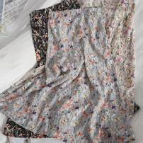 skirt Spring 2021 Average size 35 black, 36 apricot, 37 blue, 44 red, 45 blue, 46 yellow Mid length dress Versatile High waist High waist skirt Broken flowers Type A 18-24 years old 81% (inclusive) - 90% (inclusive) Chiffon