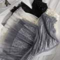 skirt Spring 2021 Average size Apricot, black, grey Mid length dress Versatile High waist Pleated skirt Dot Type A 18-24 years old 81% (inclusive) - 90% (inclusive) other