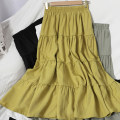 skirt Spring 2021 Average size White, apricot, black, yellow, green, brick red Mid length dress Versatile High waist High waist skirt Solid color Type A 18-24 years old 71% (inclusive) - 80% (inclusive) other