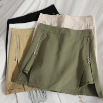 Casual pants White, apricot, black, green, khaki S,M,L,XL Spring 2021 shorts Wide leg pants High waist Versatile routine 18-24 years old 71% (inclusive) - 80% (inclusive) zipper