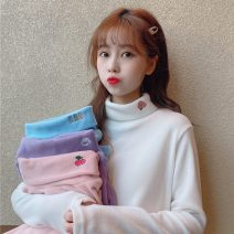 T-shirt White, pink, purple, blue Average size Autumn 2020 Long sleeves Half high collar Regular routine Sweet other 86% (inclusive) -95% (inclusive) 18-24 years old 6390# solar system