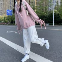 Sweater / sweater Autumn 2020 Average size Long sleeves routine Socket Hood Straight cylinder Sweet 18-24 years old 81% (inclusive) - 90% (inclusive) other solar system