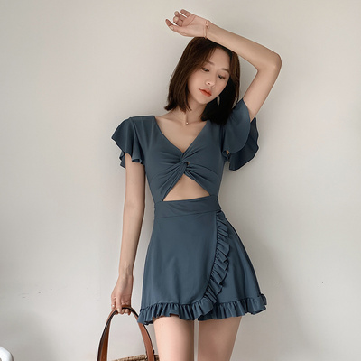 Split swimsuit quality goods Picture color M,L,XL Skirt split swimsuit With chest pad without steel support Nylon, spandex, others, polyester