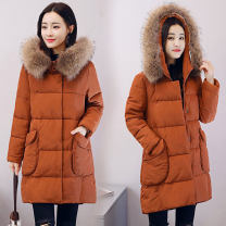 Cotton padded clothes Black, army green, caramel Winter 2021 Other / other Medium length Long sleeves routine commute Straight cylinder Korean version