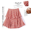 skirt Spring 2021 S. M, l, 20 o'clock every night! Second kill on time!!! red-checkered pattern Short skirt commute High waist A-line skirt lattice Type A 25-29 years old XC-DK1025-ZJS 91% (inclusive) - 95% (inclusive) Lotus leaf edge