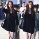 Dress Spring 2021 black S,M,L,XL Mid length dress singleton  Long sleeves commute V-neck Solid color Socket A-line skirt routine Type A Korean version 81% (inclusive) - 90% (inclusive) brocade cotton