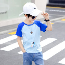 T-shirt There are models in the real shot nothing Cotton 100% TX005 Class B male Beieryi Four, five, six, seven, eight, nine, ten, eleven, twelve, thirteen, fourteen Short sleeve Crew neck 120cm 130cm 140cm 150cm 160cm
