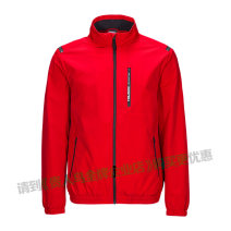 Sports jacket / jacket Guirenniao male 2XL(185/100A),3XL(190/104A),4XL(195/108A),5XL(200/112A),L(175/92A),M(170/88A),S(165/84A),XL(180/96A),XS(160/80A) B395085 - 1 bright red, - 3 Black stand collar zipper Brand logo Sports & Leisure Wear resistant and breathable Men's jacket