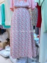 skirt Spring 2021 Average size Pink, yellow, black, lake blue Mid length dress commute High waist A-line skirt Decor Type A 18-24 years old 3-2-5 Korean version