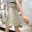 skirt Summer 2020 S,M,L White, greyish green, peach pink
