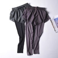trousers female CK2212 Young goat L M S Taro purple green black Summer 2021 Tightness run Tight fitting trousers nylon Moisture absorption, perspiration, anti ultraviolet, quick drying, wear resistance, super light, breathable, windproof, super elastic, insect proof, camouflage, cover and antistatic