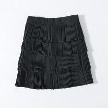 skirt Autumn of 2019 S,M,L black commute Other / other Simplicity