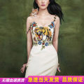 Dress Summer of 2018 white S,M,L longuette singleton  commute V-neck middle-waisted Animal design other other other camisole Type A ethnic style Embroidery 71% (inclusive) - 80% (inclusive) other polyester fiber
