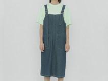 Dress Summer 2020 Turquoise S Mid length dress commute Korean version More than 95% cotton