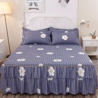 Bed skirt 2 pillowcases for bed skirt 120x200cm, 2 pillowcases for bed skirt 150x200cm, 2 pillowcases for bed skirt 180x200cm, 2 pillowcases for bed skirt 180x220cm and 2 pillowcases for bed skirt 200x220cm cotton Other / other Plants and flowers First Grade