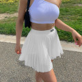 skirt Summer 2021 S,M,L white Short skirt street High waist Pleated skirt Solid color Type A 18-24 years old FGMBD11265 71% (inclusive) - 80% (inclusive) polyester fiber Pleats, thread decoration, printing Europe and America