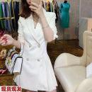 Dress Spring 2020 White, black S,M,L Middle-skirt
