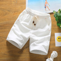 Casual pants Others Youth fashion white , black , grey , blackish green , blue M,L,XL,2XL,3XL,4XL,5XL routine Shorts (up to knee) Other leisure Self cultivation youth tide 2018 Medium low back