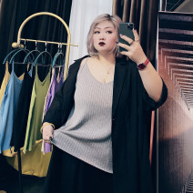 Women's large Spring 2021, summer 2021 Black, gray, blue, green, purple, yellow, apricot Large XL, large XXL, large XXL Vest / sling singleton  commute easy moderate Socket Sleeveless Other, solid Korean version other routine Others, cotton Three dimensional cutting routine 25-29 years old