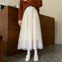 skirt Winter 2020 Average size Apricot-5h6, black-8i9 Mid length dress commute High waist A-line skirt Type A 18-24 years old F431E3070 51% (inclusive) - 70% (inclusive) polyester fiber Korean version