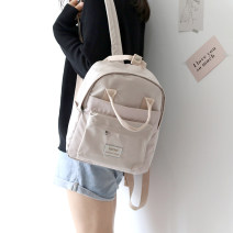 Backpack oxford Nolan  brand new in zipper leisure time Double root Japan and South Korea soft youth yes Soft handle Solid color Yes female Water splashing prevention Vertical square polyester fiber yes 14 inches Inner patch pocket
