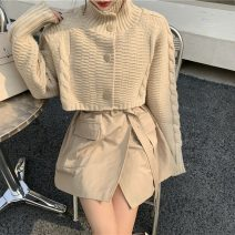 Wool knitwear Winter 2020 Average size Long sleeves Two piece set Cardigan other 31% (inclusive) - 50% (inclusive) have cash less than that is registered in the accounts commute easy High collar routine Solid color Single breasted Korean version A1112 18-24 years old Button