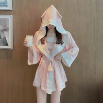 Pajamas / housewear set female Other / other Average size Suspender skirt, Nightgown other Simplicity pajamas summer Socket youth 2 pieces