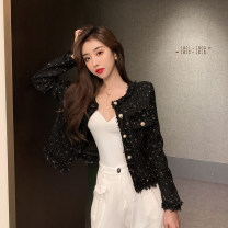 short coat Spring 2021 M, L White, black Long sleeves routine Self cultivation Sweet 18-24 years old 71% (inclusive) - 80% (inclusive) #0221 cotton