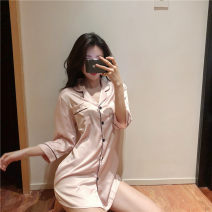 Pajamas / housewear set female Other / other Average size Blue, pink other Sweet pajamas spring routine Solid color juvenile three point one six
