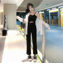 Fashion suit Summer of 2019 Average size Grey three piece set, black three piece set 18-25 years old Other / other seven point one zero