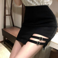 skirt Spring 2020 S,M,L black Short skirt Versatile Natural waist Irregular Solid color Type A 18-24 years old four point one six Other / other