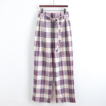 Casual pants XS,S,M,L trousers Haren pants Natural waist commute Thin money 18-24 years old pocket