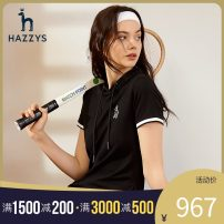 Dress Spring 2021 Black blue 155/80A 160/84A 165/88A 170/92A Mid length dress singleton  Short sleeve commute Hood middle-waisted Socket other other Others 25-29 years old Hazzys Britain AQWSE01BX03 91% (inclusive) - 95% (inclusive) cotton Cotton 91.9% polyurethane elastic fiber (spandex) 8.1%