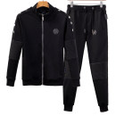 Sweater Youth fashion Piplan black 170(M),175(L),180(XL),185(XXL),190(3XL) originality Cardigan routine stand collar spring Slim fit leisure time youth tide routine T868 Fleece  cotton No iron treatment More than 95% Bag digging with open cut thread zipper