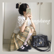 student uniforms Summer 2020 Qingmuxiang 42cm, qingmuxiang 45cm, qingmuxiang 48CM, complimentary bow tie laundry bag, postcard Title Zhafa circle XS,S,M,L,XL solar system skirt Under 17 polyester fiber 96% and above