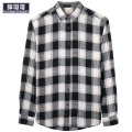 shirt Youth fashion Fat brother 3XL,2XL,6XL,4XL,7XL,5XL Black and white check Thin money Pointed collar (regular) Long sleeves easy daily spring P912C040105 Large size Cotton 100% Youthful vigor 2019 lattice Plaid No iron treatment cotton other 90% (inclusive) - 95% (inclusive)