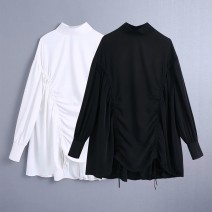 Dress Spring 2021 White as shown in the picture, black as shown in the picture XS,S,M,L Short skirt singleton  Long sleeves street 18-24 years old Europe and America