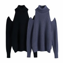 Wool knitwear Winter 2020 S,M,L Gray as shown in the picture, black as shown in the picture Long sleeves singleton  Socket other 81% (inclusive) - 90% (inclusive) routine street Straight cylinder 18-24 years old Europe and America