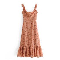 Dress Winter 2020 As shown in the figure S,M,L Mid length dress singleton  street camisole 18-24 years old Europe and America