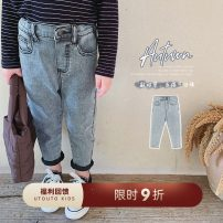 trousers UTOUTO female 80cm,90cm,100cm,110cm,120cm,130cm,140cm Light blue, grey trousers Jeans middle-waisted 2 years old, 3 years old, 4 years old, 5 years old, 6 years old, 7 years old, 8 years old