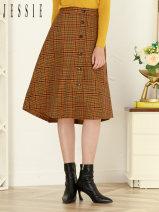 skirt Autumn 2020 S,M,L,XL Y1 Mid length dress commute Natural waist lattice 30-34 years old JNFFX079 51% (inclusive) - 70% (inclusive) JESSIE polyester fiber