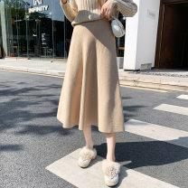 skirt * Versatile Average size * Black, pink, off white, camel, green, grayish blue Solid color